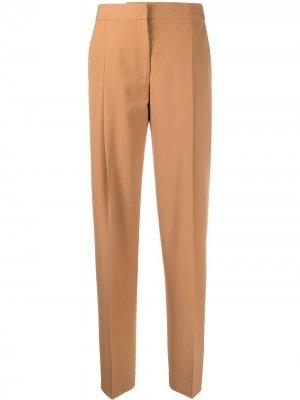 Строгие брюки прямого кроя Victoria Beckham. Цвет: коричневый