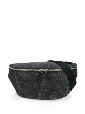 Поясная сумка с принтом пейсли Etro. Цвет: черный