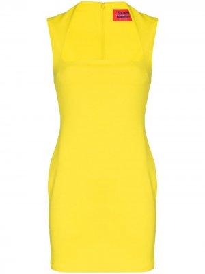 Приталенное платье мини Cora Solace London. Цвет: желтый