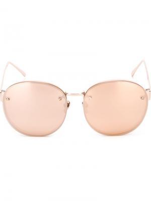 Солнцезащитные очки  341 Linda Farrow. Цвет: розовый