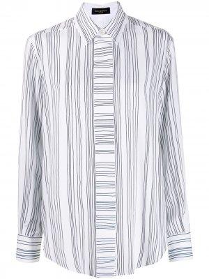 Полосатая рубашка с длинными рукавами Piazza Sempione. Цвет: белый