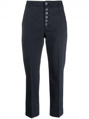 Укороченные брюки чинос с пуговицами Dondup. Цвет: синий