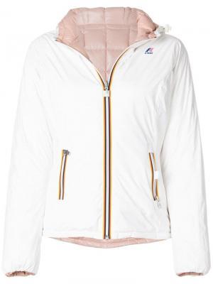 Утепленная куртка с капюшоном K-Way. Цвет: белый
