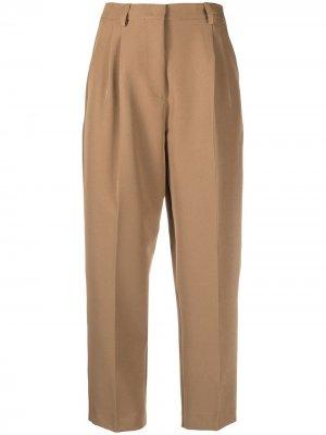 Укороченные брюки с завышенной талией Société Anonyme. Цвет: коричневый