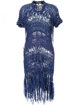 Вязаное платье Junya Watanabe Comme Des Garçons Vintage. Цвет: синий