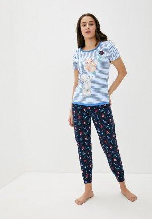 Пижама Marks & Spencer. Цвет: разноцветный