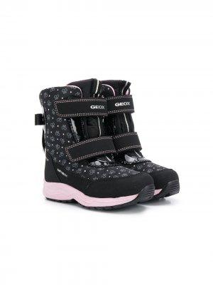 Ботинки Kuray ABX с принтом Geox Kids. Цвет: черный
