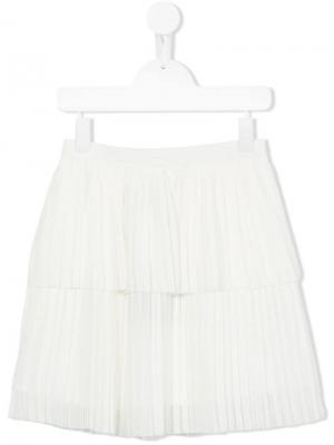 Плиссированная юбка Little Remix. Цвет: белый