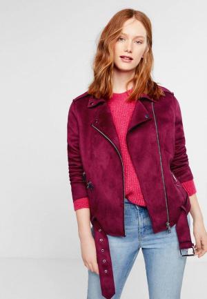 Куртка Violeta by Mango. Цвет: бордовый