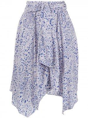 Юбка с завышенной талией Isabel Marant. Цвет: голубой