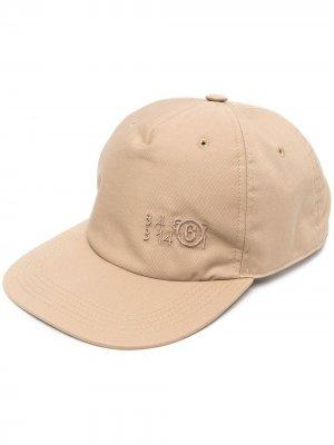 Шестипанельная кепка MM6 Maison Margiela. Цвет: коричневый