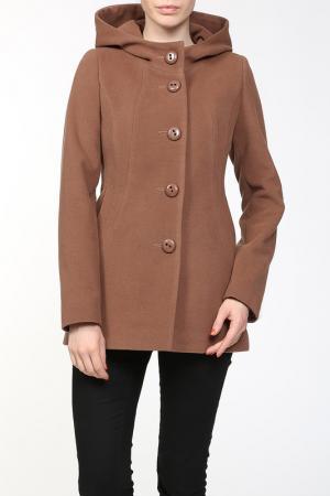 Пальто КОРУ-СТИЛЬ. Цвет: коричневый