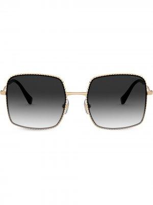 Солнцезащитные очки в квадратной оправе Miu Eyewear. Цвет: черный