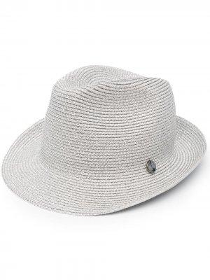 Шляпа с эффектом металлик catarzi. Цвет: серебристый