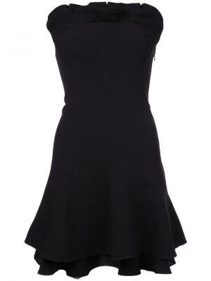Расклешенное платье бандо Cinq A Sept. Цвет: черный