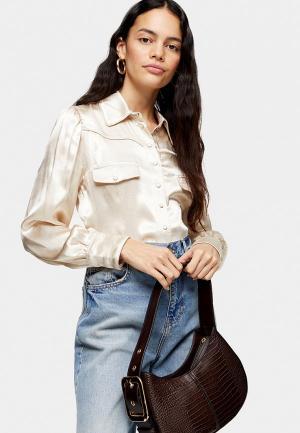 Блуза Topshop. Цвет: бежевый