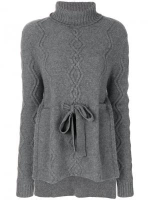 Кашемировый свитер Tosca Cashmere In Love. Цвет: серый