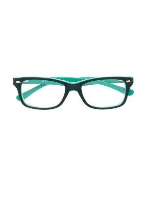 Очки в квадратной оправе RAY-BAN JUNIOR. Цвет: зеленый