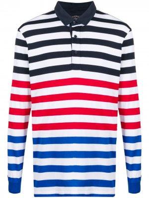 Полосатая рубашка поло с длинными рукавами Paul & Shark. Цвет: синий