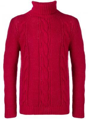 Вязаный свитер с высокой горловиной Obvious Basic. Цвет: красный
