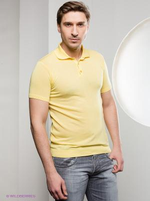 Футболка-поло Al Franco. Цвет: желтый