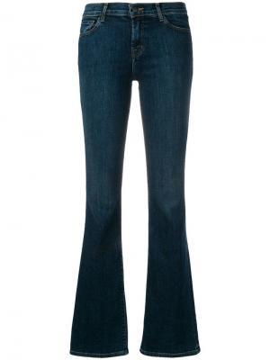 Классические расклешенные джинсы J Brand. Цвет: синий