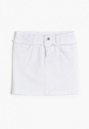 Юбка джинсовая Koton. Цвет: белый