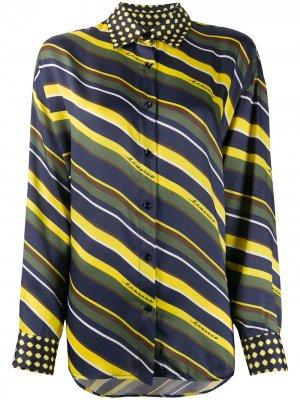 Рубашка в полоску Ermanno. Цвет: желтый