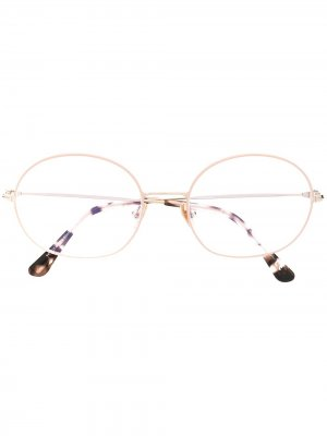 Очки в круглой оправе TOM FORD Eyewear. Цвет: розовый