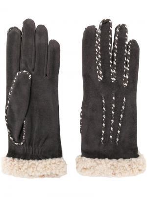 Перчатки Marielouise Agnelle. Цвет: серый