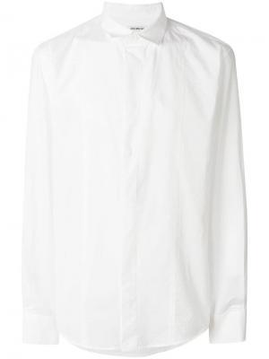 Рубашка классического кроя с фактурной выделкой Dirk Bikkembergs. Цвет: белый