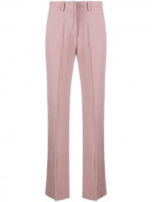 Строгие брюки прямого кроя Hebe Studio. Цвет: розовый