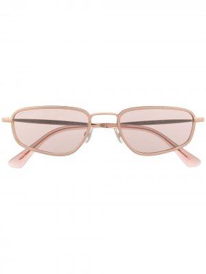 Солнцезащитные очки GAL в овальной оправе Jimmy Choo Eyewear. Цвет: золотистый