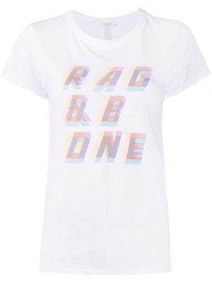 Футболка с 3D логотипом Rag & Bone. Цвет: белый