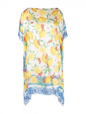 Блузка с принтом Mc2 Saint Barth. Цвет: желтый