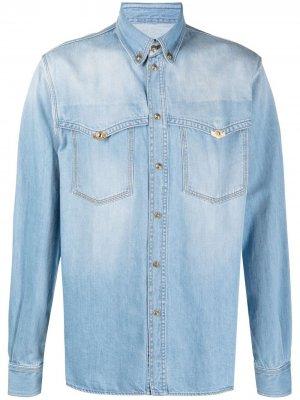 Джинсовая рубашка с длинными рукавами Versace Jeans Couture. Цвет: синий
