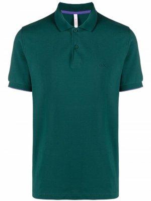 Рубашка поло с вышивкой Sun 68. Цвет: зеленый