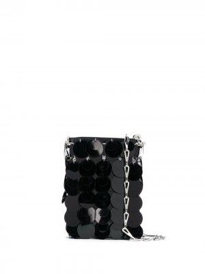 Мини-сумка Sparkle Paco Rabanne. Цвет: черный