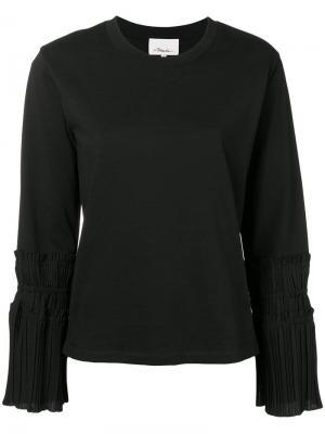 Pleated-cuff sweater 3.1 Phillip Lim. Цвет: черный