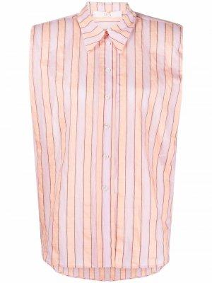 Рубашка без рукавов в тонкую полоску Tela. Цвет: розовый