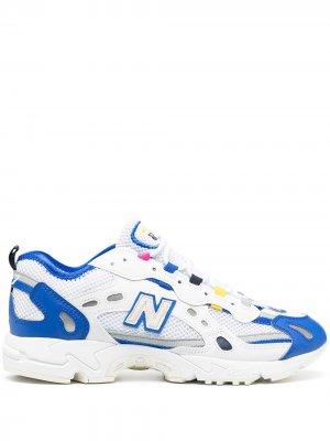 Многослойные кроссовки New Balance. Цвет: белый