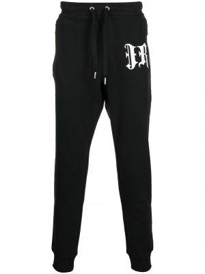 Спортивные брюки с кулиской и логотипом John Richmond. Цвет: черный