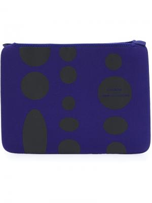 Чехол для ноутбука в горох Comme Des Garçons Wallet. Цвет: синий