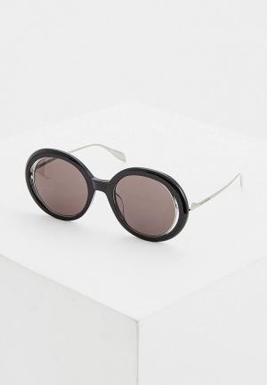 Очки солнцезащитные Alexander McQueen. Цвет: черный