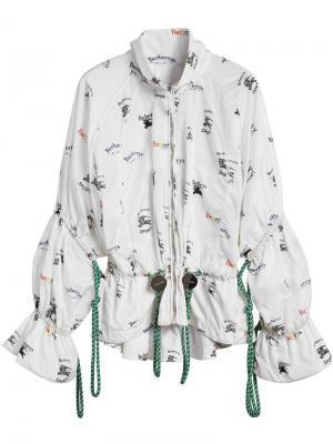 Куртка с логотипом Triple Archive Burberry. Цвет: белый