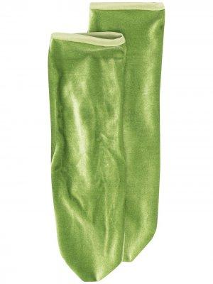 Бархатные носки Simone Wild. Цвет: зеленый