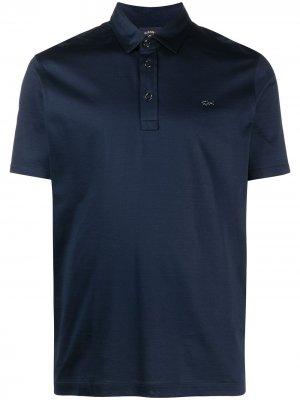 Рубашка поло с короткими рукавами и логотипом Paul & Shark. Цвет: синий