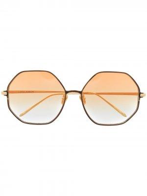 Солнцезащитные очки с эффектом градиента Linda Farrow. Цвет: оранжевый