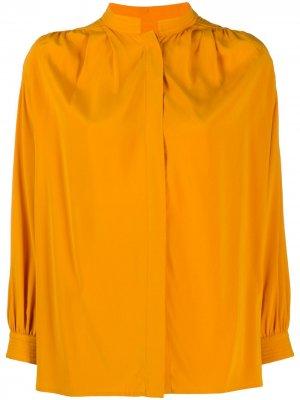 Рубашка с потайной застежкой Christian Wijnants. Цвет: оранжевый