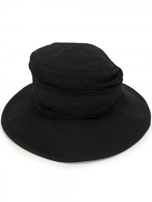Ys шляпа с широкими полями Y's. Цвет: черный